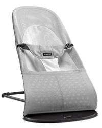 BABYBJORN Bouncer Balance Soft 平衡型柔软保护婴儿摇椅 银白色 网眼面料
