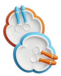 Baby Plate, Spoon and Fork 宝宝餐盘 汤匙和叉子