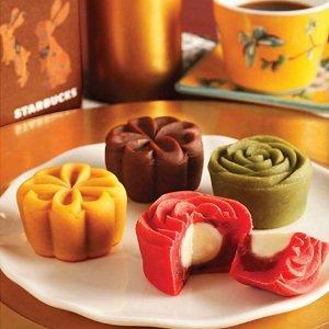 星巴克星悦月饼礼盒480g(北京提货劵)图片