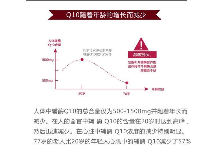 healthycare 辅酶q10强心宝胶囊50mg 200粒 (2瓶价)