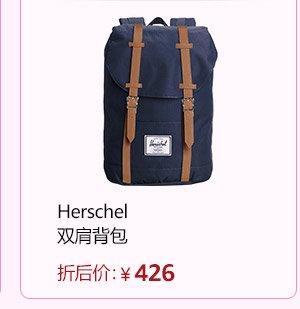 Herschel Supply Little America 大号 中性 经典系列 时尚双肩背包 10014-00001 黑色/棕褐色合成革 25 L(亚马逊进口直采,加拿大品牌)