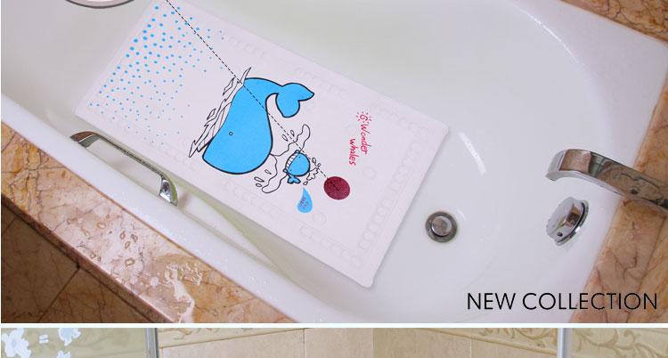 贝贝凯 卡通浴室垫 sb3015 海豚喷水图案 40*70cm