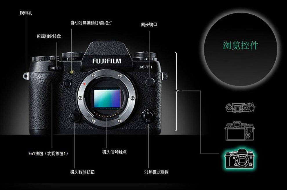 富士X-T1 碳晶灰 图片13