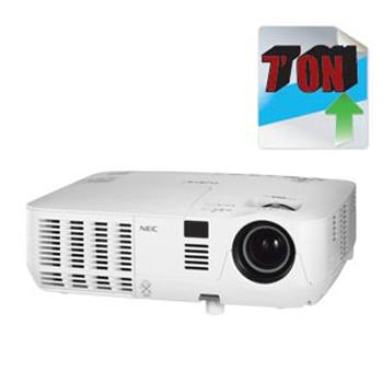 NEC V260W+ 家庭影院投影机单台投影机实现3D效果投影画面