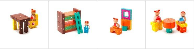 教育积木构成(130pcs) 从正方体,圆柱等基本图形到梯子,十字杆,圆拱形