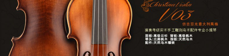 Christina 克莉丝蒂娜 V03 小提琴初学者提琴儿童成人提琴乐器