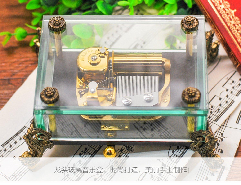韵升rhymes 30音 定制系列 创意礼品 玩具 八音盒 龙头玻璃 龙头摆件