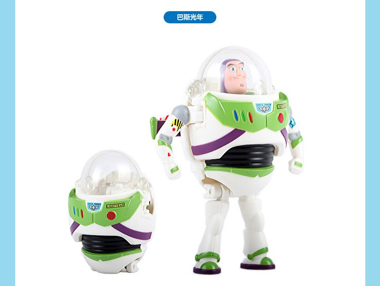 BANDAI 万代 迪士尼捣蛋总动员-玩具总动员-巴斯光年与朋友们玩具 E85274