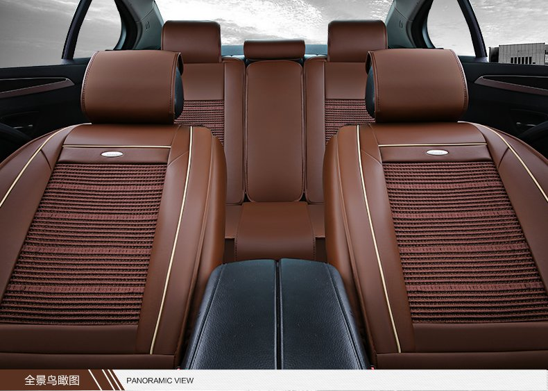皓邦hb 新款 环保汽车坐垫 四季通用垫片 干爽透气 环保皮革冰丝耐磨