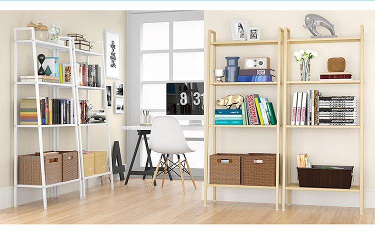 小美 加宽四层书架[超细蜂网层板设计 易取放 好清洁