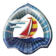 Iron Stop Sailboat Wind Spinner