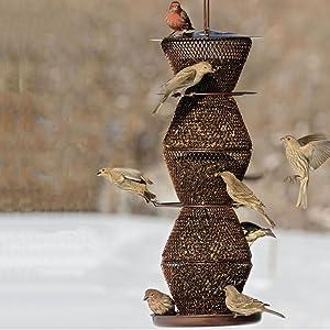 No/No Bronze Five Tier Bird Feeder