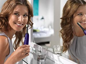 Philips Sonicare DiamondClean, electric toothbrush, rechargeable toothbrush, purple toothbrush