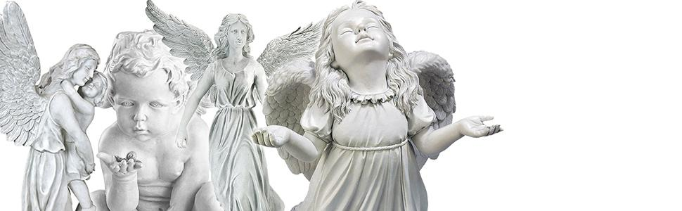 angel statues, cherub statues, religious statues