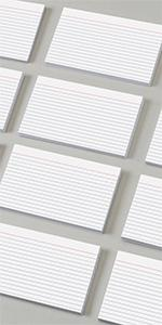 Oxford White Index Cards