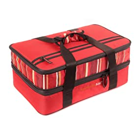 casserole carrier;insulated food carrier;food carrier;pyrex portable