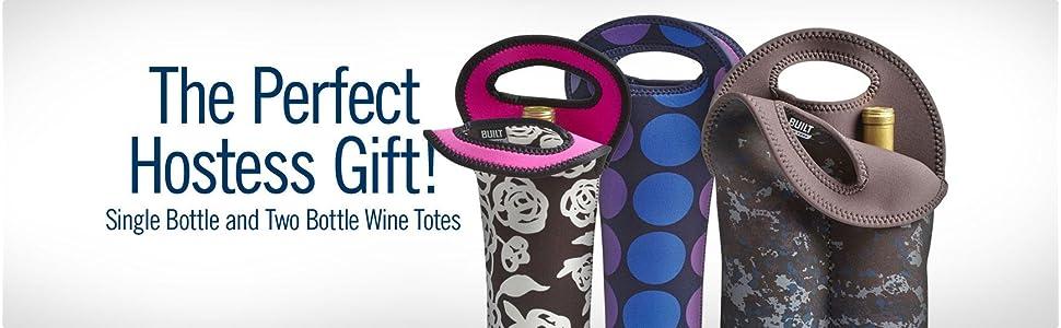BUILT, wine, tote, wine carrier, wine gift, neoprene, bottles
