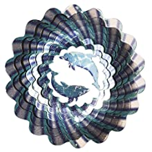 Iron Stop Dolphins Wind Spinner