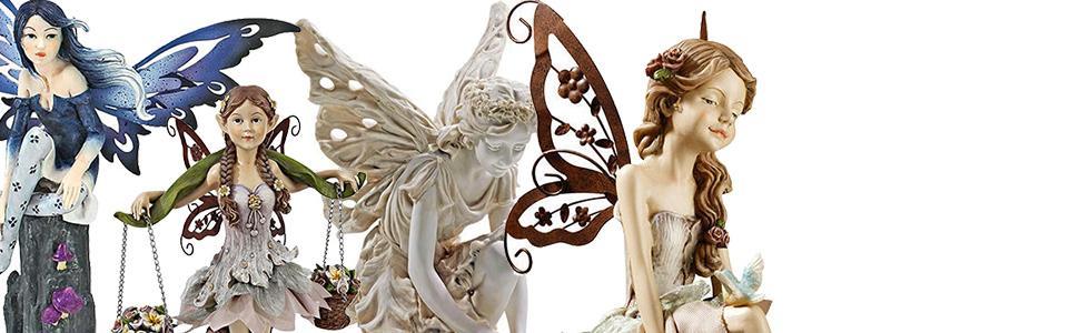 fairies, fairy statues, fairy garden