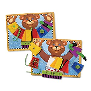 puzzle, life skills, toy for 3 year old, boy, girl,snap, button, buckle,zipper, lacing, laces