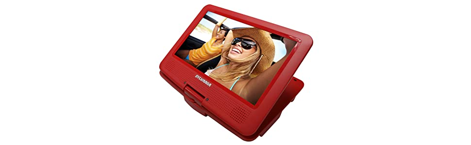 cheap kids tablet; dorm room tv; dvd player for plane; travel entertainment system; play movies car