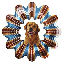 Iron Stop Golden Retriever Wind Spinner