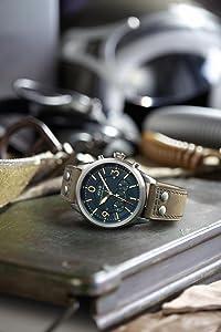 AVI-8, Aviator Watch, Pilot Watch, AV-4024, Lancaster Bomber, Watch, Leather Strap, Quartz Watch