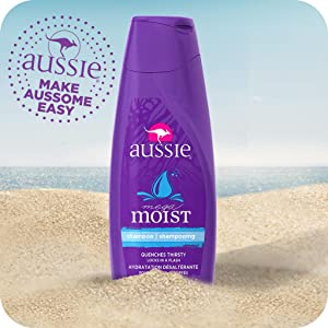 aussie, hair care, moisturizing shampoo