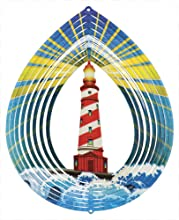 Iron Stop Lighthouse Wind Spinner