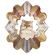 Iron Stop Persian Cat Wind Spinner