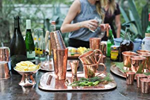 Sertodo, Copper Platters, cocktail sets, mint julep cups, moscow, moscow mule mugs, copper cups,