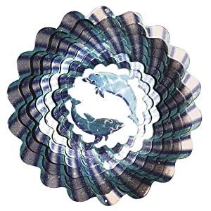 Iron Stop Designer Dolphin Wind Spinner