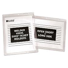 Welded Vinyl Shop Ticket Holders