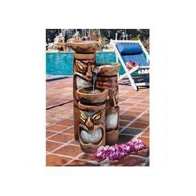 outdoor fountain, lighted fountain,