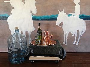 sertodo, moscow, copper cups, platter, copper platter, oprah's favorite things, cocktail set,