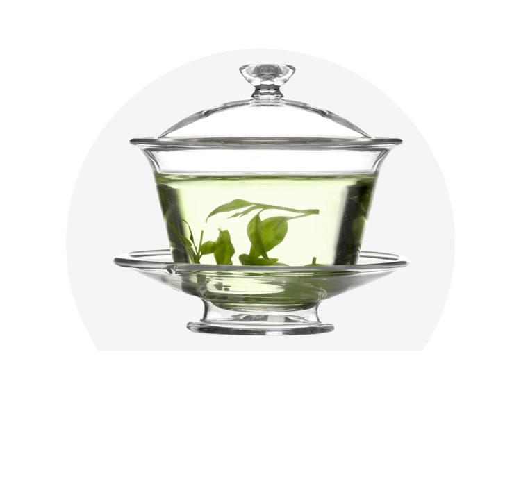 Vatiri乐怡 150ML耐热玻璃带盖碟茶杯