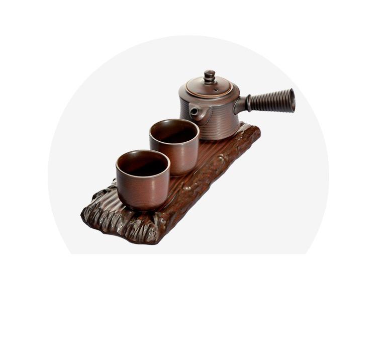 甲馨 一壶两杯带托盘干泡茶具