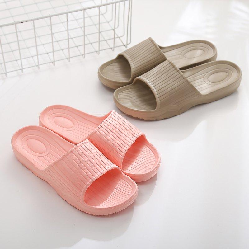 日式简约速干四季家居素色拖鞋男女家用厚底防滑室内室外情侣居家洗澡静音浴室拖鞋
