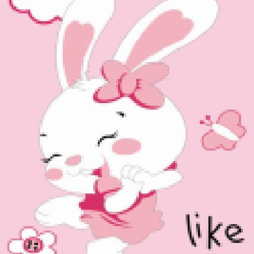 荷木棠 创意礼品 数字油画 diy 美丽小白兔kt-071