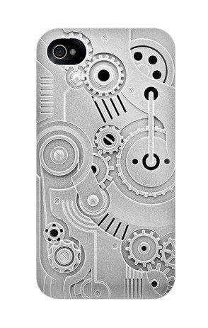 switcheasy clockwork iphone4/4s 手机保护壳 灰色 浮雕时钟齿轮