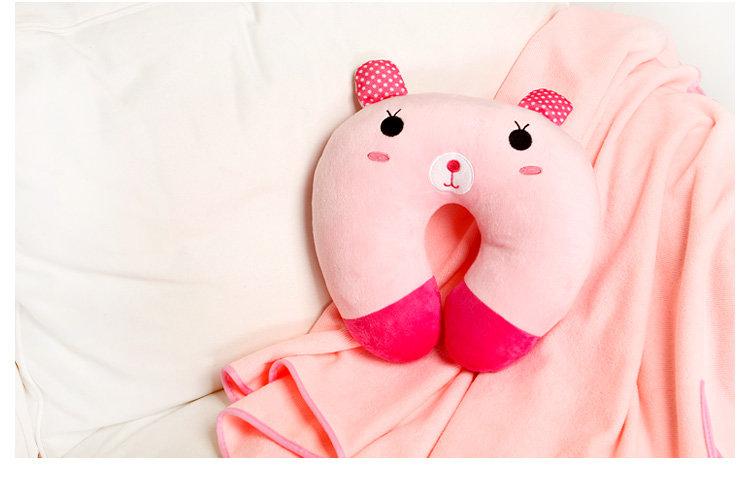 homee可爱超萌动物卡通u型护颈枕-兔子(荷木棠)400