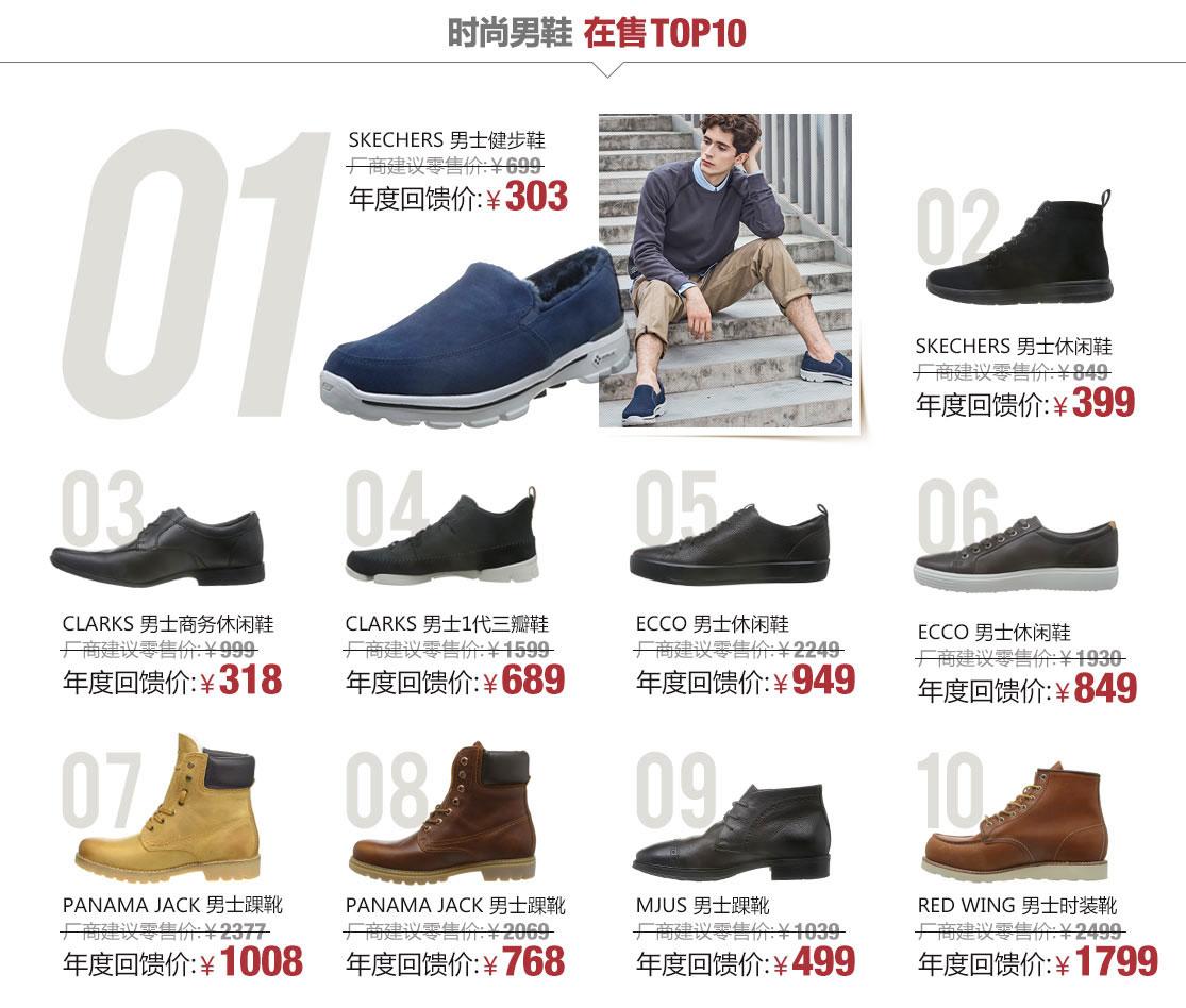 鞋靴年度销售红榜-亚马逊中国
