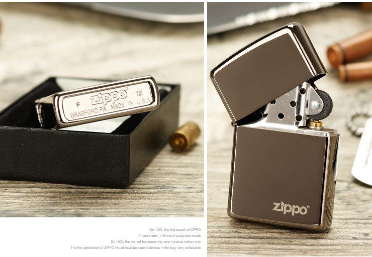 Zippo 芝宝 打火机 黑冰Zippo 芝宝 标志 150ZL
