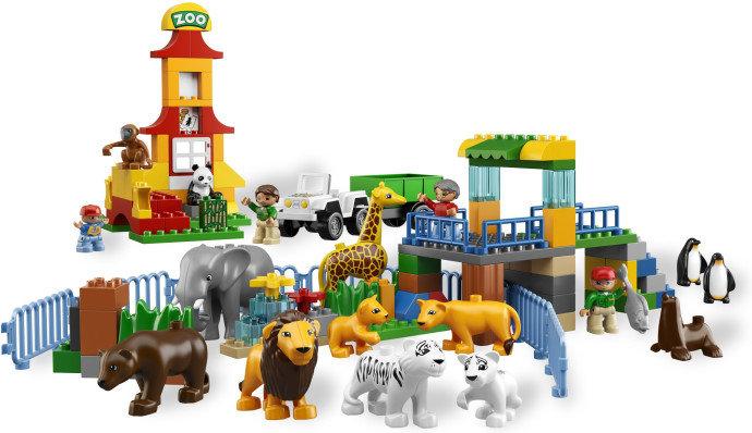 lego 乐高 得宝主题拼砌系列 大型动物园 6157