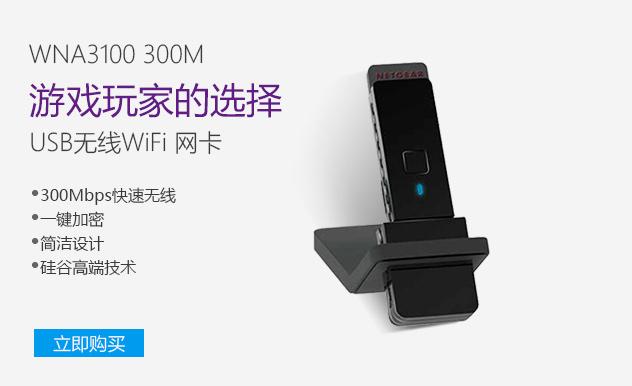 NETGEAR 网件 WNA3100 300M 802.11n USB无线网卡