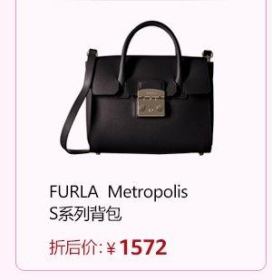 FURLA 女式 Metropolis S系列单肩包 斜挎包 820732 黑色 (亚马逊进口直采,意大利品牌)