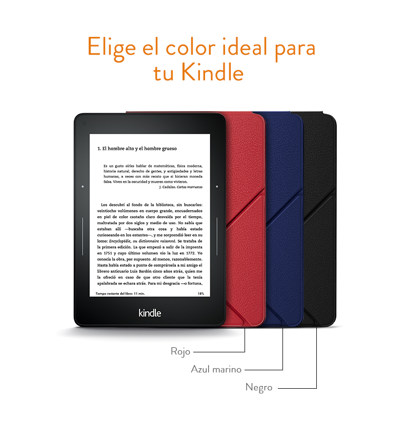 Amazon - Funda de cuero Origami para Kindle Voyage, Negro: Amazon.es