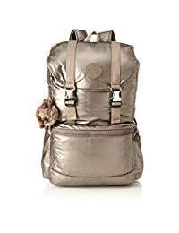 Kipling 凯浦林 - 大号背包,笔记本电脑保护,适合 15 英寸笔记本电脑 - 体验 - 玫瑰花绽放 Geo