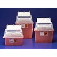 Kendall GATORGUARD Sharps Container, 3 Gallon Translucent Red by Kendall/Covidien
