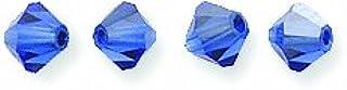 Swarovski Elements 5301 Bicone Diamond Beads, Capri Blue, 4-mm, 48/Pack